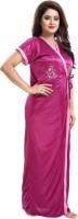 Dream Art Creations Women Robe and Lingerie Set(Pink)