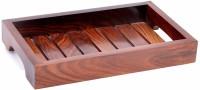 Kesha Spree Sheesham Wood Handmade & Handcrafted Wooden Serving Tray (Small) - 10 x 6 x 1.4 Inch - Export Quality Tray(Tray)