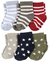 Footprints Organic Cotton Baby Boys & Baby Girls Ankle Length(Pack of 6)
