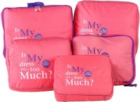 Magnusdeal 5 in 1 Sets Travel Bags in Bag Organizer (PINK)(Pink)
