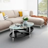 Flipkart Perfect Homes Eclipse Glass Coffee Table(Finish Color - Ebony Black)
