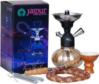 JaipurCrafts Premium Designer Orange Pumpkin Hookah Set 10 inch Glass, Iron Hookah(Multicolor)