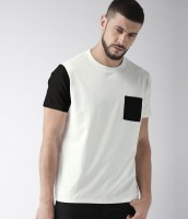 Young Trendz Solid Men Round or Crew White T-Shirt