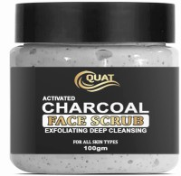Quat Activeted Charcoal Face Scrub for deep Cleansing , Skin Brightening,Tan Removal Scrub(100 g)