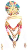 MNAONLINE Multicolour Shringar Jewellery Set/Shringar set For Thakurji Deity Ornament(Laddu Gopal, Radha Krishana, Thakurji, Mataji)