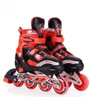 J K INTERNATIONAL High quality Skating in-line Shoe have different size and with PU LED wheel In-line Skates - (Red) In-line Skates - Size 6-9 UK(Red)