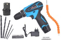 Shivonic HIGHLY ADVANCE ELECTRIC CORDLESS DRILL MACHINE WITH BIT/ SCREW DRIVERS SET / BATTERIES /CHARGER NEW DRILL HIGHLY ADVANCE ELECTRIC CORDLESS DRILL MACHINE WITH BIT/ SCREW DRIVERS SET / BATTERIES /CHARGE NEW PARTNER Pistol Grip Drill(10 mm Chuck Size)