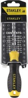 STANLEY Stanley Multi Bit Screwdriver Set Of 35, Black/Yellow, 3.5 x 2 x 9.1 inches, 70-885 Combination Screwdriver Set(Pack of 35)