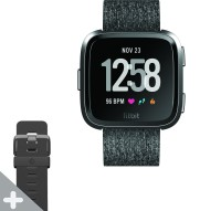 FITBIT Versa Special Edition Smartwatch(Charcoal Strap, Regular)