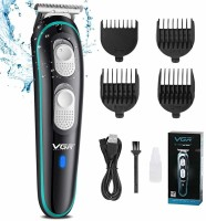 VGR V-055 Professional Hair Clippers Rechargeable Cordless Beard Hair Trimmer Haircut Kit with Guide Combs Brush USB Cord for Men, Family or Pets  Runtime: 120 min Trimmer for Men(Blue)