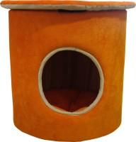 Hiputee Elegant Durable Foam Velvet Round Toy Dogs Pet Cat Bed House Hut (Diameter x Height : 18 x 18 inch) Cat, Dog, Tortoise House