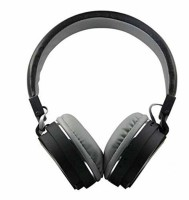 Toughway SH12 Bluetooth Headphones with FM and SD Card Slot (Black) Bluetooth Headset(Black, On the Ear)
