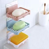 Coozico Magic Sticker Series Self-Adhesive Waterproof Kitchen Bathroom Soap Holder,(Multicolor)
