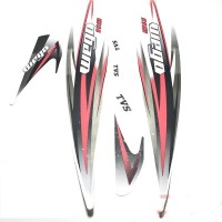 HRBull Sticker & Decal for Bike(Multicolor)