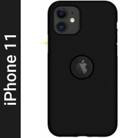 KARWAN Back Cover for Apple iPhone 11(Black, Shock Proof, Silicon)