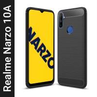 Flipkart SmartBuy Back Cover for Realme Narzo 20A, Realme Narzo 10A(Black, Flexible)