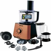 Inalsa Verve 800W Food Processor with 100% Pure Copper Motor| 2 Multipurpose Jars & 11 Accessories 800 W Food Processor(Black/Rose Gold)