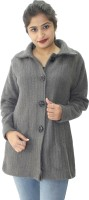 Hautemoda Solid Collared Neck Casual Women Grey Sweater