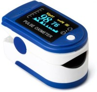 Dr. Oxiblue Pulse Oximeter Digital LED spo2 pulse oximeter for all fingertip Oxymeters For Oxygen Level oxygen meter finger oximeter With Battery Included (CE, FCC & ROHS Certified) Pulse Oximeter(Blue, White)