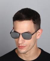 WROGN Rectangular Sunglasses(Silver)