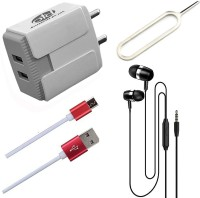 OTD Wall Charger Accessory Combo for Realme Narzo 20A, Realme U1, Reliance Lava EG841, Ringing Bells Smart 101(Multicolor)