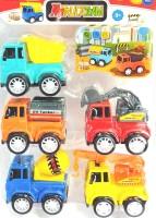 Richuzers 5PC Colorful Construction Truck Set With Bulldozer Cement Mixer Oil Tanker Dumper Crane(Multicolor)