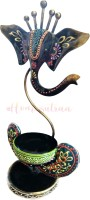 Homesutraa Metal Handmade Hand Painted Black Iron Lord Ganesh Tealight Candle Holder – 11 Inch - Home & Table Decor - A Perfect Gift Idea Iron Tealight Holder(Black, Pack of 1)