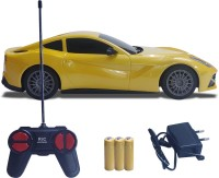 NHR Mini Racing 4 Channel 1:24 Remote Control Car, RC Car, Super Racing car with LED Head Light(Yellow)
