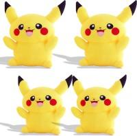 Renox combo of 4 Pikachu, Plush Toy for Kids, Gift & Decoration (teddy bear)  - 25 cm(Yellow)