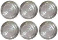 KAY ESS Set of six designer stainless steel halwa quarter plate heavy guage Tray(6 Tray)