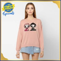 Only Round Neck Graphic Print Women Pullover