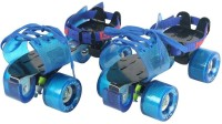 Dixon Adjustable Roller Skate with Screw Tightening Gun ; Roller Skate Quad Roller Skates - Size 7 UK(Multicolor)