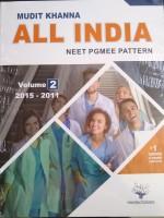 All India NEET PGMEE Pattern Volume-2 ( 2015-2011 )(Paperback, Mudit Khanna)