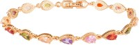 ColorBox Fashion Brass Cubic Zirconia Gold-plated Tennis Bracelet