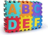 SG Store Large ABC and Numbers Puzzle Mat Non Toxic EVA Foam Alphabet and Number Interlock Puzzle Mat for Kids Learn and Play, 36 Blocks(36 Pieces)