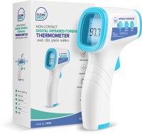 CLEAN MEDS CM004 Digital Infrared Forehead Thermometer Gun (MADE IN INDIA) for Fever, Body Temperature (Non Contact). Best for Adults, Baby, Kids. FDA, CE, ROHS, ISO Certified - 1 Year Warranty Thermometer(White and Blue)