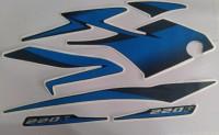 HRBull Sticker & Decal for Bike(Black, Blue)