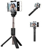 Worricow H8 Selfie Stick Tripod Stand With Non-slip Rubber Feet Lightweight And Portable Photography Stand For Professional Monopod(Black, Supports Up to 1800 g)