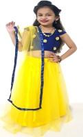 Riyaz Fashion Girls Ethnic Wear Self Design Lehenga| Choli and Dupatta Set Yellow| Pack of 1