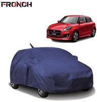 FRONCH Car Cover For Maruti Suzuki Swift (With Mirror Pockets)(Blue)