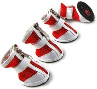 Hanu Shoes for Dog(White, Red)