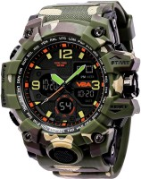 V2A Army Green Stylish Trendy Countdown Chronograph Shockproof Waterproof Sports Casual Analog-Digital Watch  - For Men