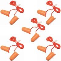 EURO Noise Reducing   For Meditation   During Study   While Travelling   Sleeping Ear Plug (Orange) (Pack of-5) Ear Plug(Orange)