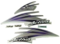 HRBull Sticker & Decal for Car(Purple, Silver)