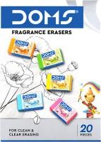 DOMS Fragrance Non-Toxic Eraser(Set of 20, Multicolor)