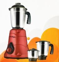 Khaitan Nios 3 KA 215 500 Mixer Grinder(Red, 3 Jars)