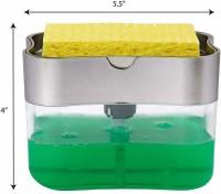 Lariox Plastic Liquid Soap Press-Type Pump Dispenser with Sponge Holder for Kitchen Sink Dishwasher(Multicolor)