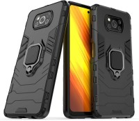 KWINE CASE Back Cover for Poco X3(Black, Rugged Armor)