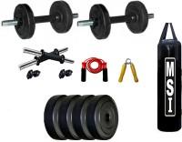Monika Sports 4 Kg Adjustable Dumbell ( 1 kg x 4 = 4kg ) +2 Dumbell rod + 3 feet Unfilled Punching bag + 1 Bearing Rope + 1 Wooden Handgrip Home Gym Kit