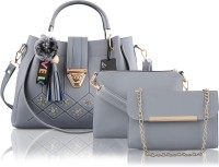 ZEBA Women Grey Sling Bag(Pack of: 3)